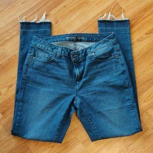EUC Michael Kors raw hem skinny jeans